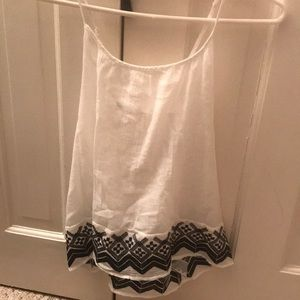 Old Navy Spaghetti Strapped White Crossedback Top